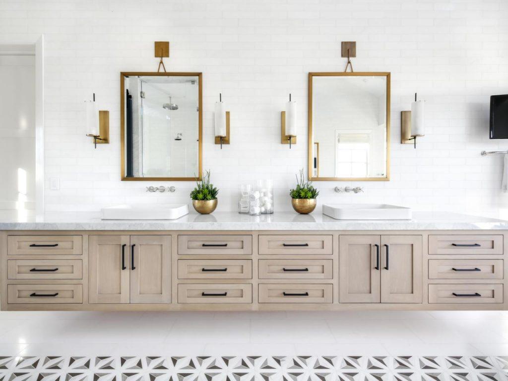 Round Marble Top Vanity Units